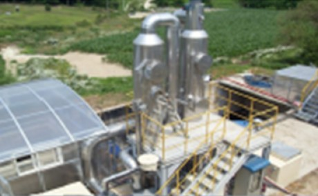 High Concentrated Ammonia Containing Wastewater Treatment Process Under Operation in Korea (Developed by Whasung Systech)